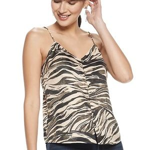 Nine West Self Covered Button Down Cami, medium